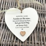 Shabby personalised Gift Chic Heart Plaque Special Auntie Aunty Great Aunt Gift - 233008382986